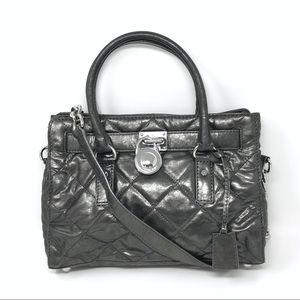 Michael Michael Kors Hamilton Quilted Tote Silver